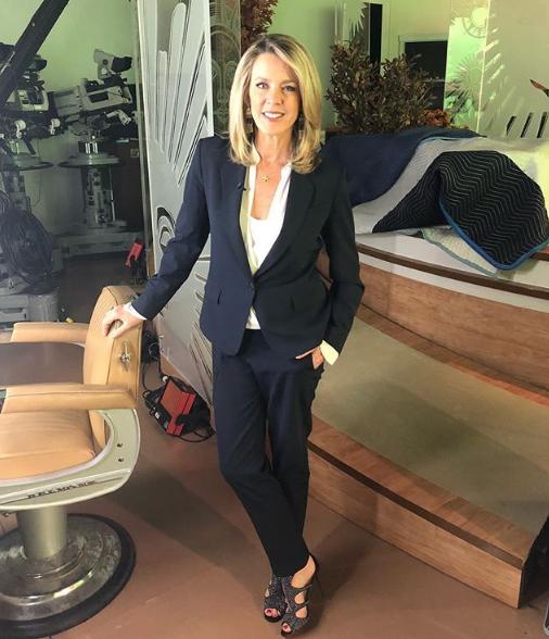 Deborah Norville Wearing a Suit
