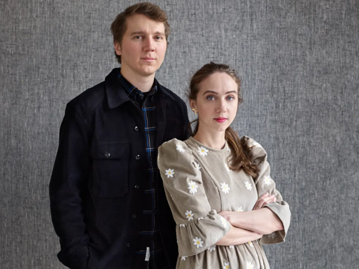 Zoe Kazan and her partner, Paul Dani