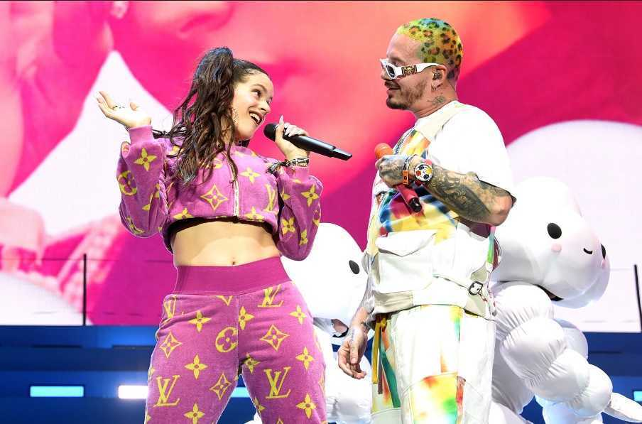 J Balvin and Rosalia