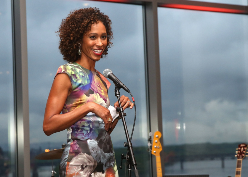 Sage Steele, the host of the weekend show 'NBA Countdown'