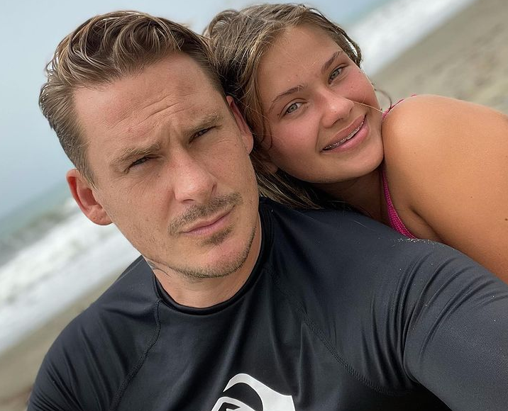 Lee Ryan and his daughter, Bluebell