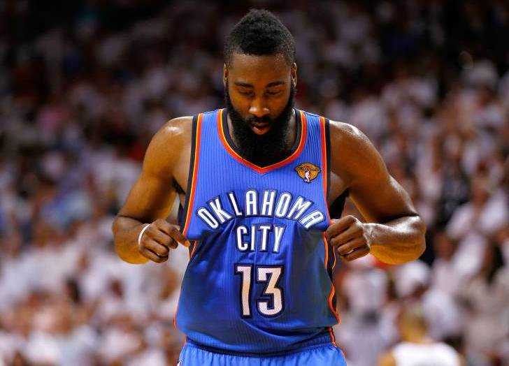 James harden Oklahoma City Thunder