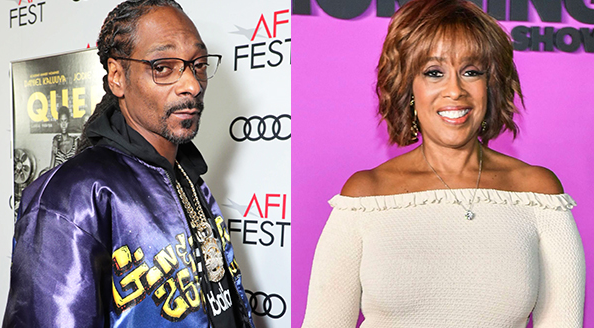Snoop Dogg (Left) And Gayle King (Right)