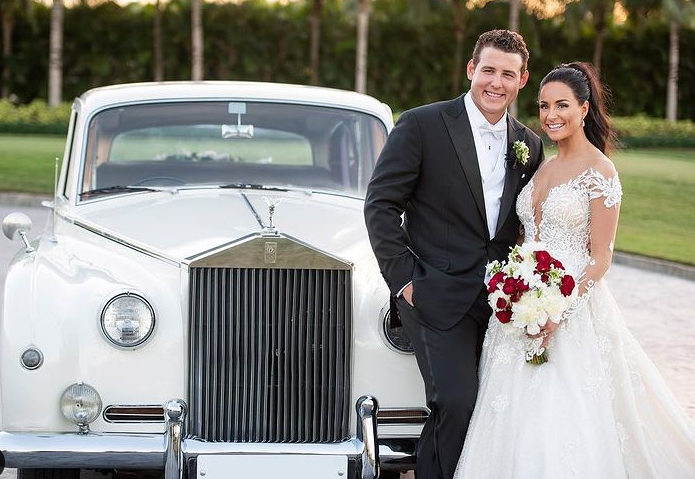 Anthony Rizzo and his wife, Emily