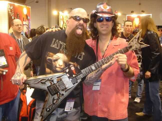 Kerry King (Slayer) with Dean Zelinsky from Dean Guitars with the finest Dean ever seen