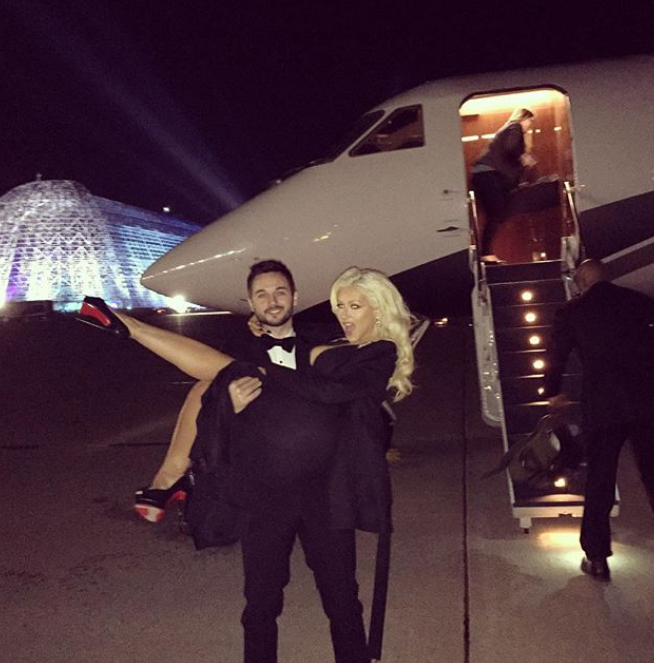 Christina Aguilera and Matthew Rutler Valentine Day
