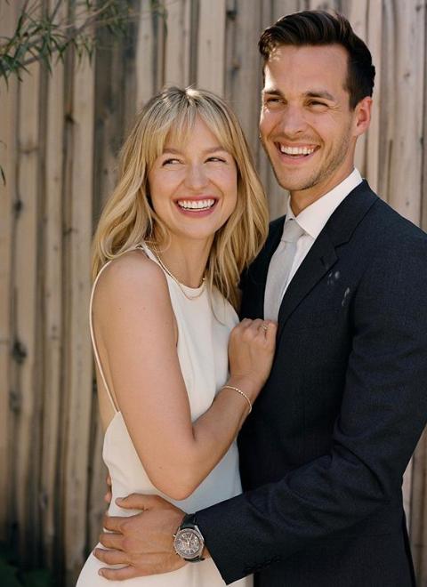 Chris Wood and Melissa Benoist Happiness