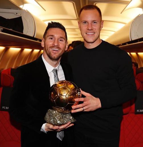 Stegen With Lionel Messi