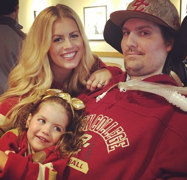 Pete Frates With His Wife And Child