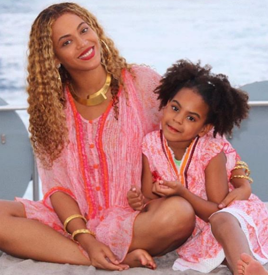 Blue Ivy Carter With Her Mother, Beyonce