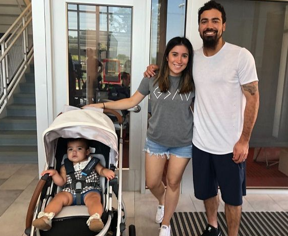 Anthony Rendon With His Wife And Child, Emma