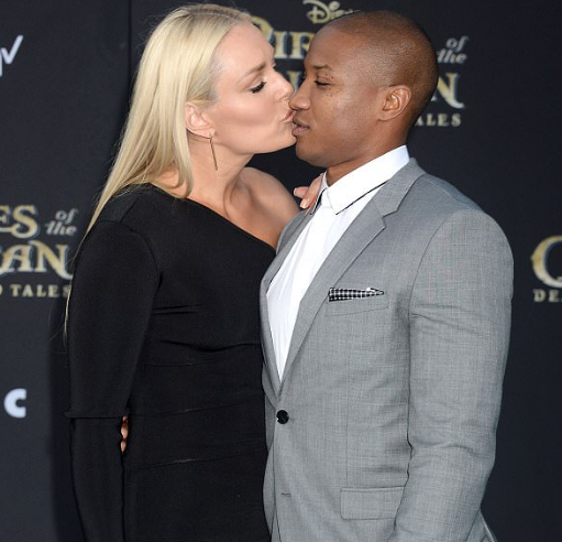 Kenan Smith and Lindsay Vonn Kissing