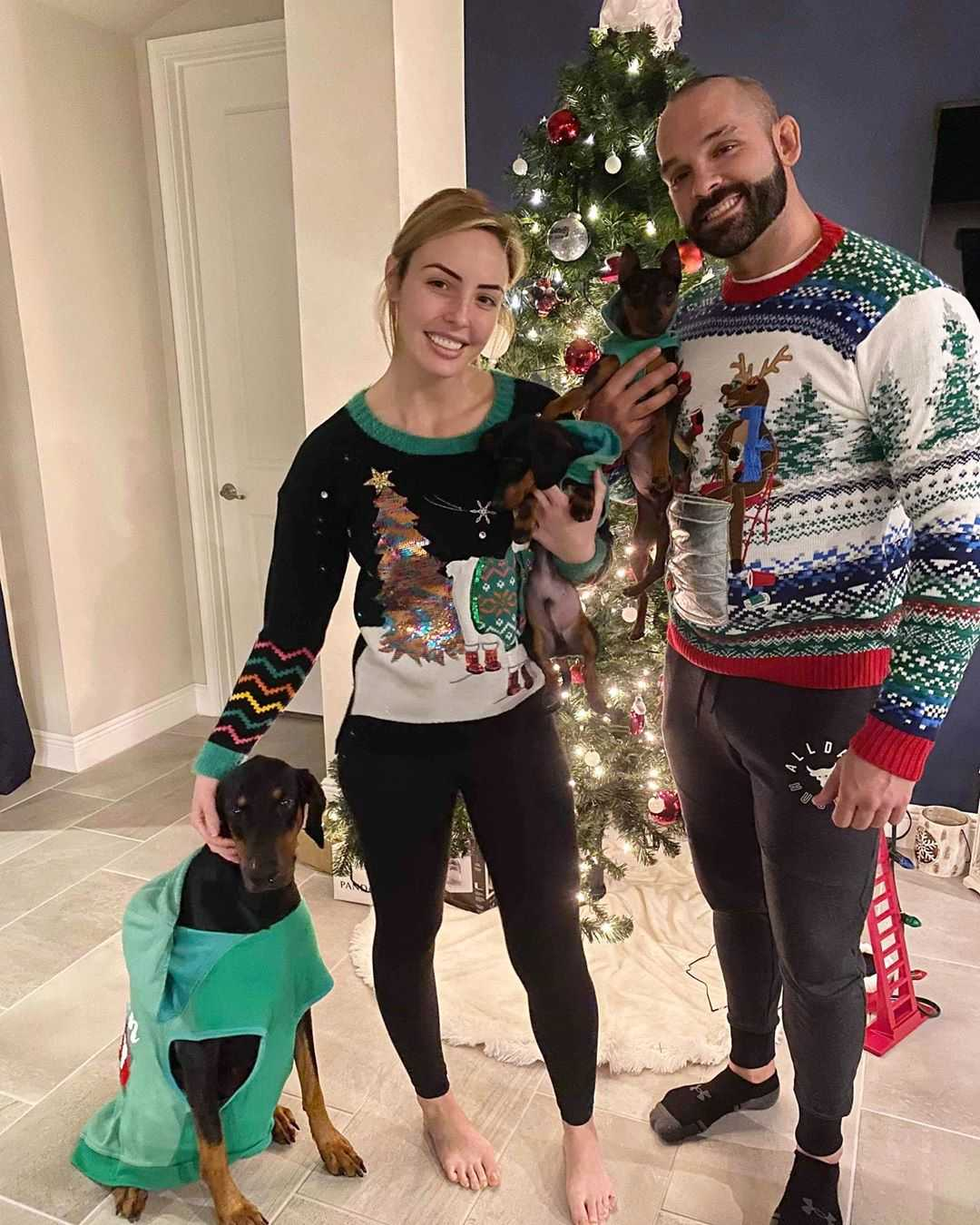 Peyton Royce and Tye Dillinger Christmas