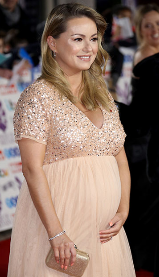 Ola Jordan (Pregnant) With Her Baby Girl