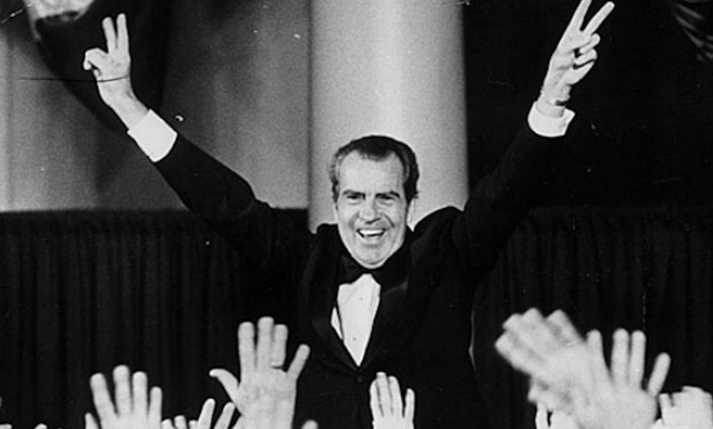 Richard Nixon Cheering Up