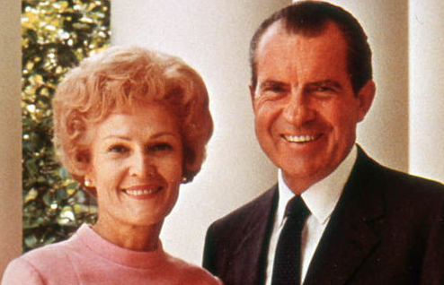 Richard Nixon With His Wife