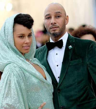 Swizz Beatz With His Wife Alicia Keys