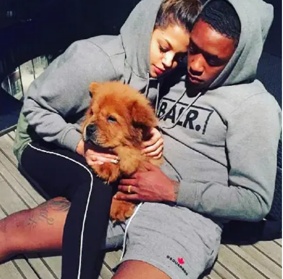 Steven Bergwijn with His Girlfriend, Chloe