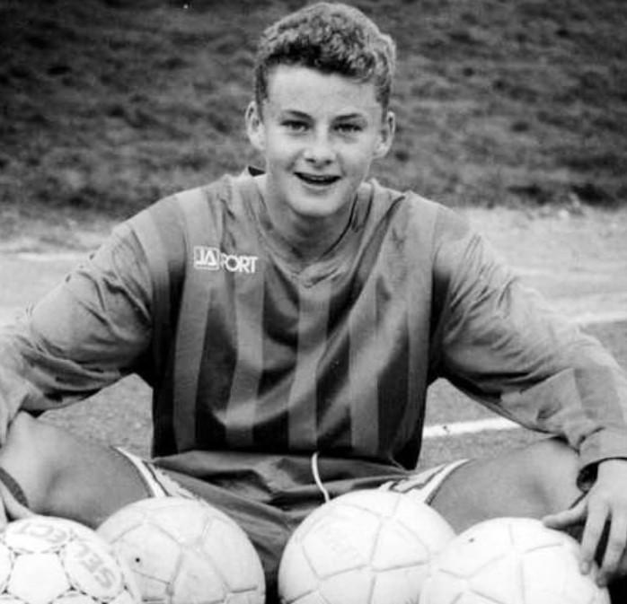Ole Gunnar Solskjær young