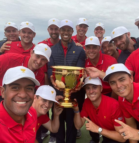 Tony Finau With Squad