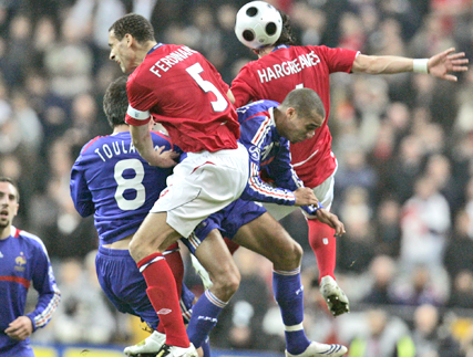 David Trezeguet Taking The Ball Against The Opponent