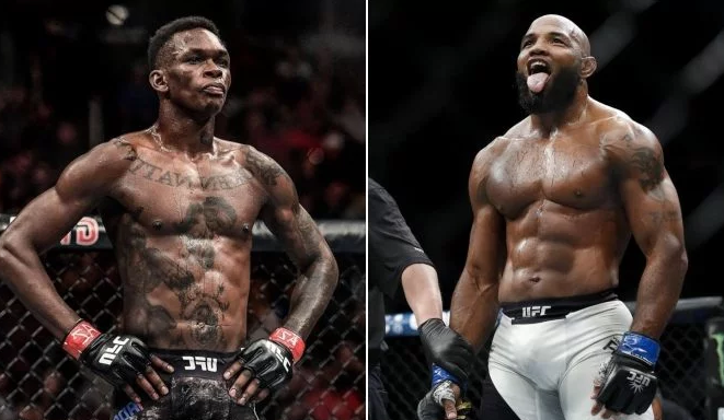Israel Adesanya (Left) Vs Yoel Romero (Right)