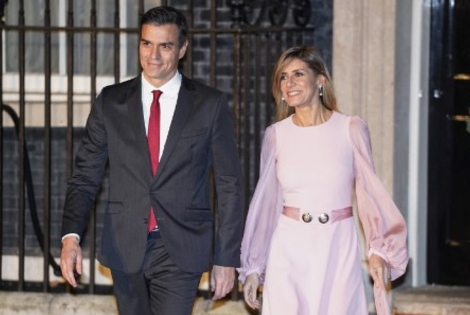 Maria Begona With Her Husband Pedro Sanchez