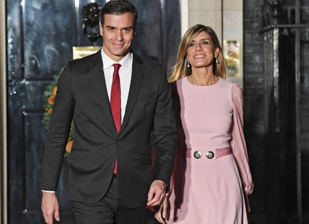 Maria Begona With Pedro Sanchez, her husband