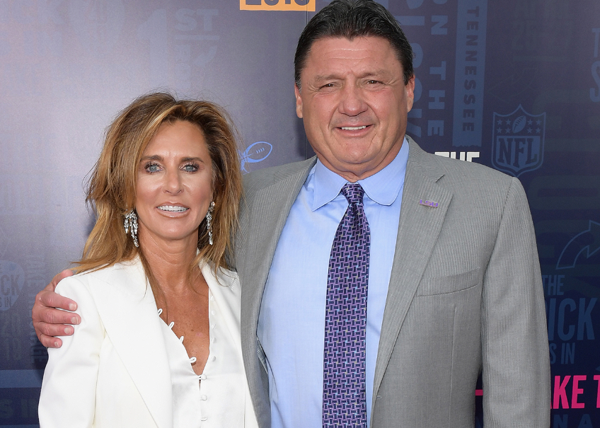 Kelly Orgeron With Her Husband, Ed Orgeron