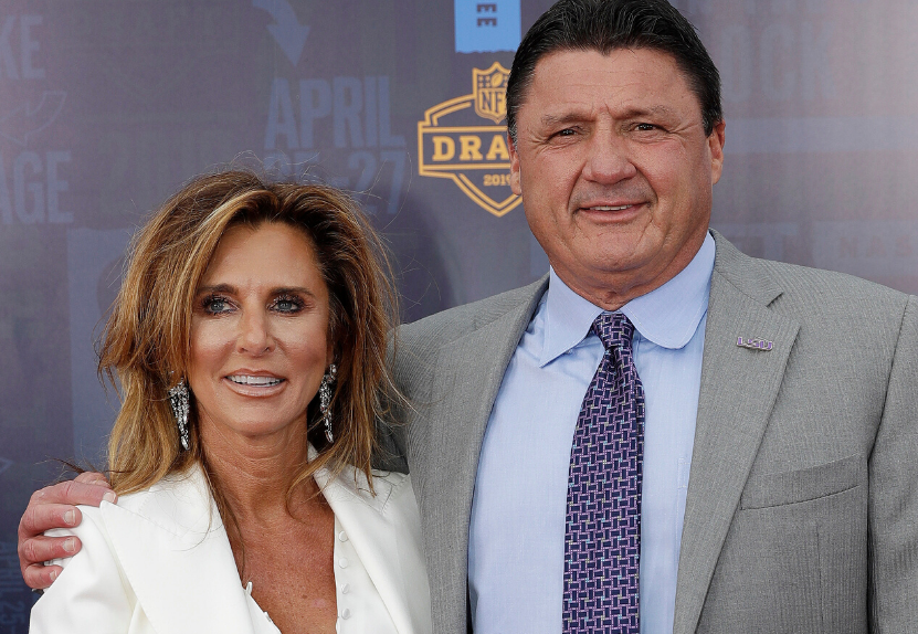 Ed Orgeron With His Wife, Kelly