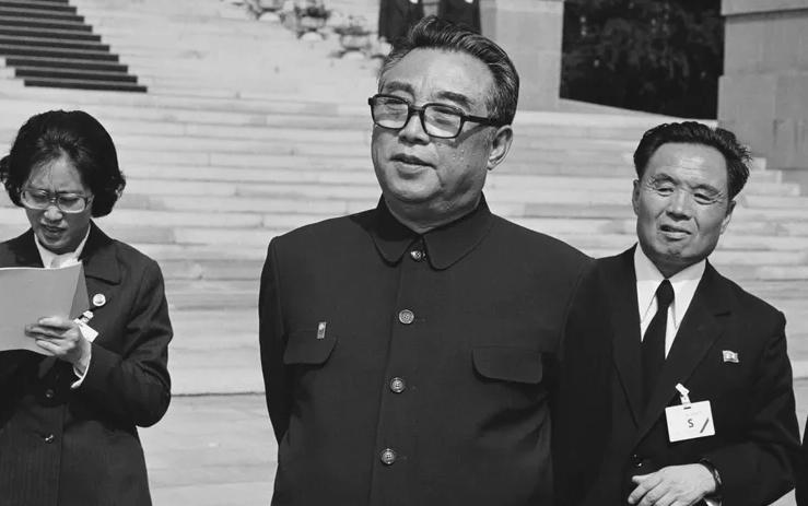Kim Il-sung ruling the country's establishment in 1948 until his death in 1994