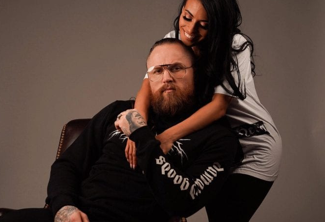 Aleister Black with his wife Zelina Vega