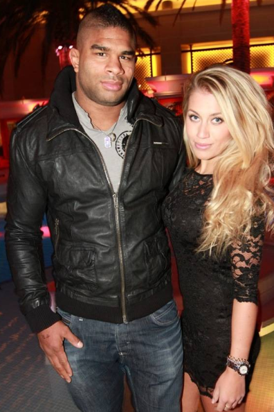 Alistair Overeem with his wife, Zelina Bexander