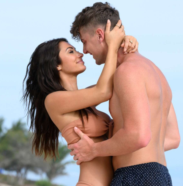 Harry Jowsey with his girlfriend Francesca Farago in Too Hot To Handle