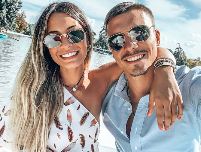 Joao Palhinha with his girlfriend; Patricia Palhares
