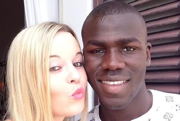 Kalidou Koulibaly and Charline Oudenot