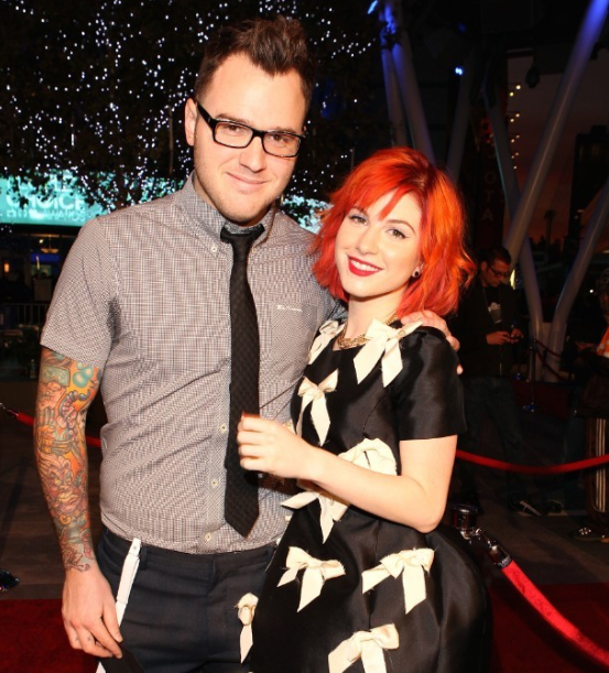 Hayley Williams with her ex-husband Chad Gilbert