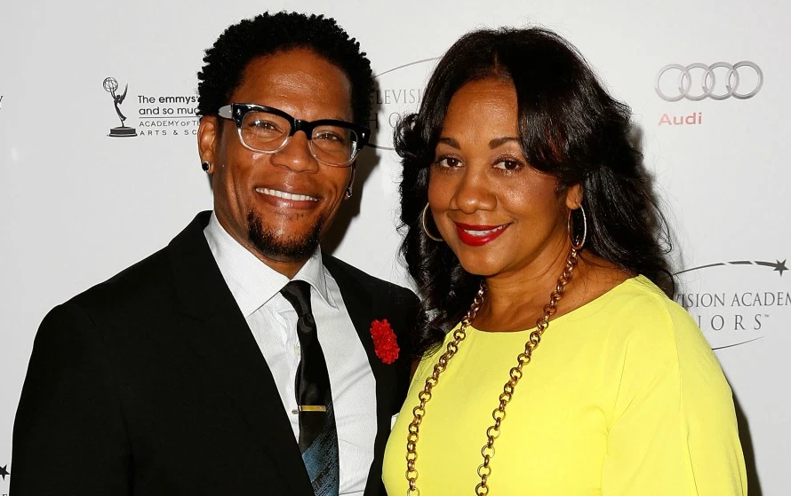 D. L. Hughley with his wife, LaDonna Hughley