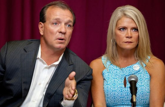 Jimbo Fisher with his ex-wife Candi