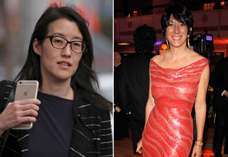 Ellen Pao (Left) and Ghislaine Maxwell (Right)