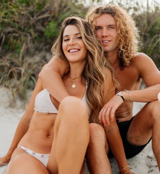 Tyler Crispen with his girlfriend, Angela Rummans