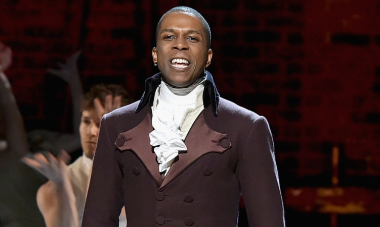 Leslie Odom Jr. in Hamilton as Aaron Burr