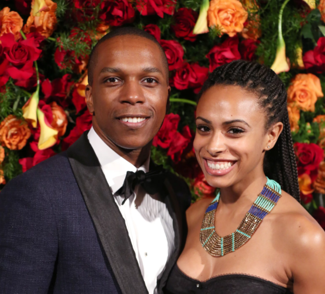 Leslie Odom Jr. with his wife, Nicolette Kloe Robinson