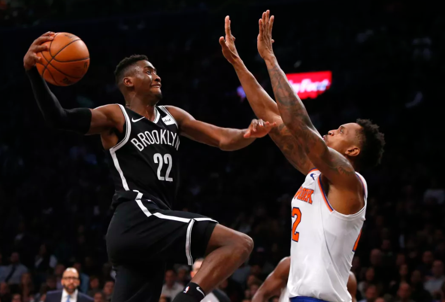 Caris LeVert, playing for Brooklyn Nets
