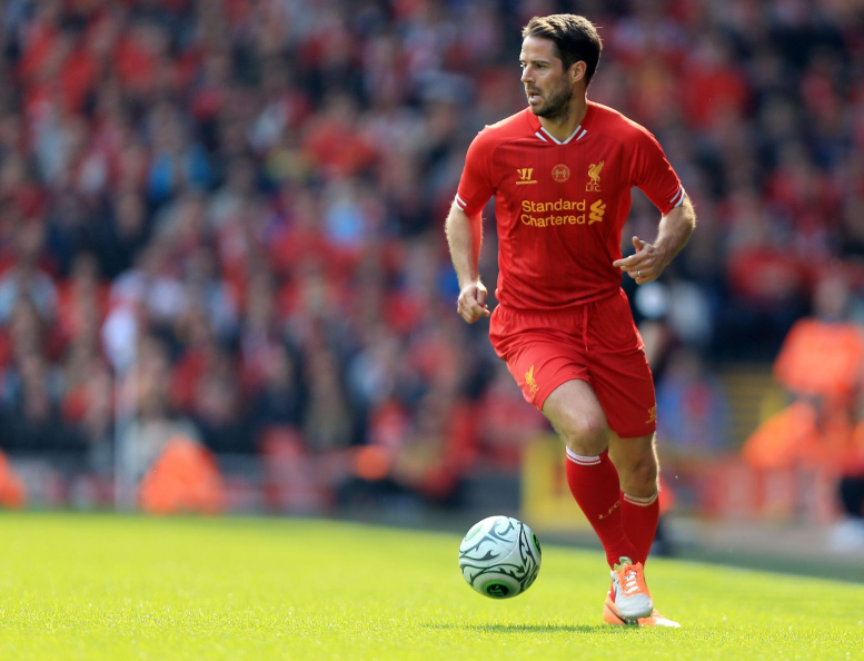 Jamie Redknapp playing for Liverpool