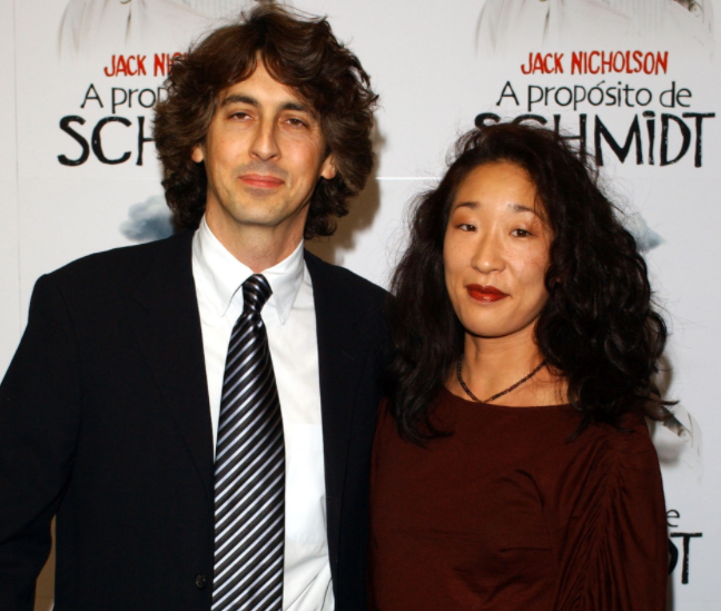 Alexander Payne with his ex-wife Sandra Oh
