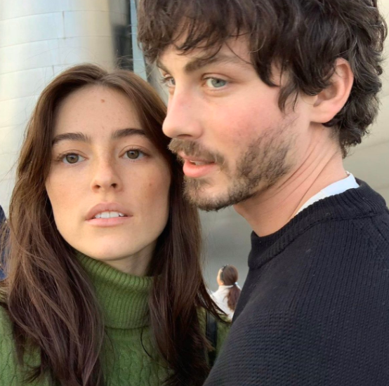 Logan Lerman with his girlfriend, Ana Corrigan