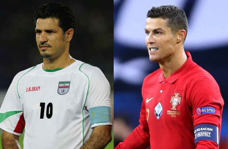 Cristiano Ronaldo is the second male player to score over 100 international goals after Iran's Ali Daei (109)