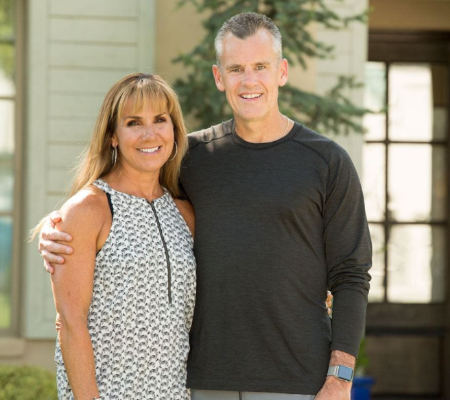 Billy Donovan with his wife, Christine Donovan