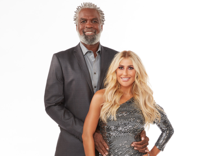 Charles Oakley and his partner, Emma Slater Eliminated from Dancing with the Stars Season 29
